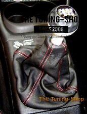 Se adapta a VW Golf II VW GOLF III Gear stick Polaina De Cuero Negro Rojo Costura