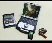 "1/6 Laptop IPAD DV Model Office Scene Props Model Fit 12"" Action Figure"