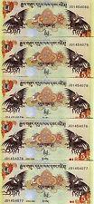 LOT, Bhutan,  5 x 5 Ngultum, 2006, P-28, UNC -> ornate