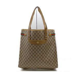 Gucci Tote Bag  Browns PVC 1424521