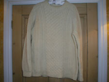 WELSH HAND KNIT AARON JUMPER, MEDIUM SIZE, FABULOUS QUALITY, TIMELESS GARMENT