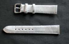 18mm SILVER -Metallic-Colour-Calf-Grain-Leather Ladies Watch Strap