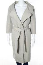 Tuleh Ivory Long Sleeve V neck Tie Front Closure Coat Size 10