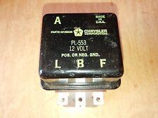 1 - Rare NOS Chrysler Brand Saddle Type 12 Volt Voltage Regulator - PL-553