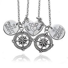 Fashion Best Friends Charms Necklace Compass Friendship Teens Child Girl Gifts