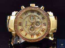 Mens Jojino/Joe Rodeo/Jojo Stainless Steel 50mm Real 25 Diamond Watch MJ-1194