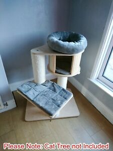 Handmade GREY Cat Bed Replacement Set for Natural Paradise Cat Tree Small