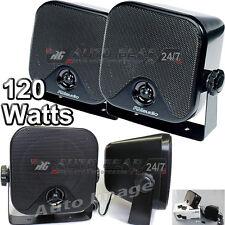 RMS620 120 Watts 2-Way Car Van Motorhome Boat Pod Shelf Speakers With Brackets