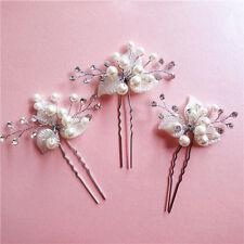 Crystal Accessories Rhinestone Wedding Hair Jewelry Silver 1Pc Leaf Hairpin