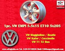 1 Roue Alliage Volkswagen MÉCHANTS 5.5x15 Maggiolino Käfer T1 T2 1Pc.Wheel felge