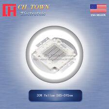 1Pcs 30W Watt High Power Yellow 585-595nm SMD LED Chip Blub Beads Lamp