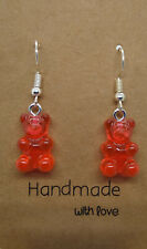 dark Orange Gummy Bear Earrings