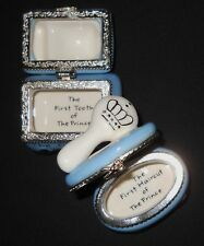 Baby Limoge Hair Tooth Hinged Trinket Box Mud Pie Set