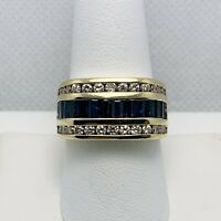1.75ctw Natural Sapphire Diamond 14k Gold Ring (9121)