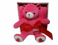 Plush Pink Heart Plush Bear with Pink Throw Blanket in a Box Gift Set Valentine