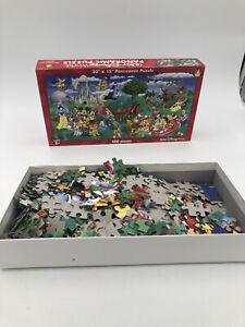 "Walt Disney World Parks Resorts 500 Piece Panoramic Puzzle 30"" X 15"" Used Flaw"