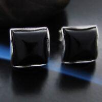 Onyx Silber 925 Ohrringe Damen Schmuck Sterlingsilber S105