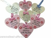 Personalised Wooden Heart Plaque Baby Boy - Girl - Christening Gift - Keepsake