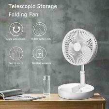 USB Rechargeable Telescopic Folding Fan Desktop Landing Fan Air Cooler 4 Modes