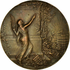 [#713430] France, Medal, Art Nouveau, Journal Le Matin, Riberon, Au(50-53)