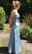 Jessica McClintock Light Blue Satin Formal Gown Sz 10 MRSP $199.
