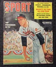 1958 March SPORT Baseball Magazine VG 4.0 Ted Williams / Lew Burdette