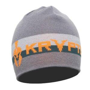Kryptek Retro Acrylic/Spandex One Size Beanie, Color: Grey/Orange