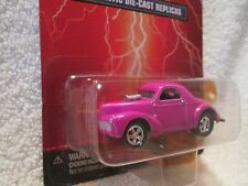 1941 willys coupe  pink JOHNNY LIGHTNING  CAR 1/64 small card