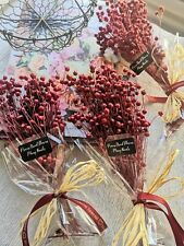 Dried Flowers  Wedding /Arrangement  Linum (Flax),  Red