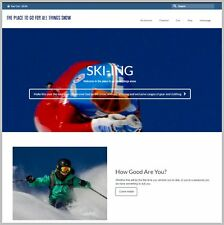 """Fully Stocked Dropshipping SKI-ING GEAR Website Store. """"300 Hits A Day"""""""