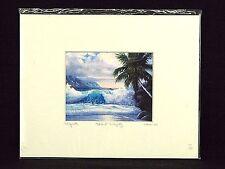 Dawn Lundquist Matted Print Kona 2000 Island Majesty Signed