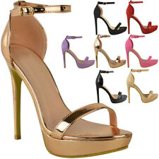 Womens Ladies Platform High Heel Stiletto Sandals Sexy Party Prom Shoes Size New