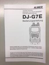 Deutsche Bedienungsanleitung für ALINCO DJ-G7E Transceiver - Original Handbuch