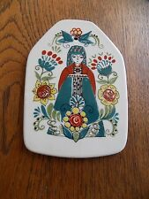 Figgjo Flint Norway Norsk Design Saga Queen Pottery Wall Plaque