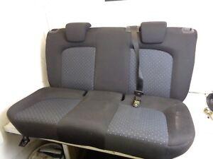 2006-2010 FIAT PUNTO GRANDE 5 DOOR REAR SEATS BLACK WITH SPORTS COMPLETE