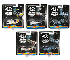 Star Wars 40th Hot Wheels Carships (Set 5) Millennium Falcon Y & X Wing Fighter