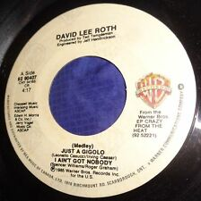 MB779 David Lee Roth Just A Gigolo / I Ain't Got Nobody 45 RPM Record