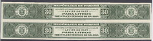 Panama 1920's, liquor tax fiscal, IMPERF PROOF PAIR, American Banknote archives