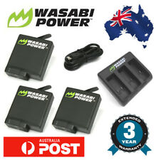 Wasabi Power Battery for GoPro HERO 5 3x 1220mAh batteries Triple USB Charger