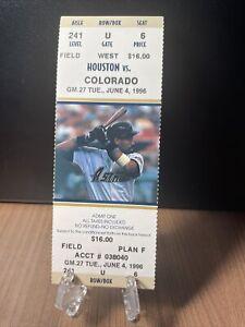 HOUSTON ASTROS VS COLORADO ROCKIES TICKET UNUSED VINTAGE JUNE 4 1996  ASTRODOME