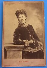 *Original* MISS J VOKES 1880's Cabinet Photo LONDON PANTOMIME THEATRE ACTRESS