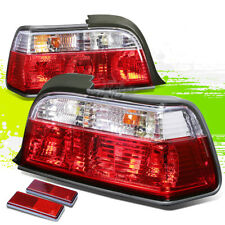 FOR 92-98 BMW E36 3-SERIES 2DR CLEAR HOUSING RED LED REAR SIGNAL TAIL LIGHTS
