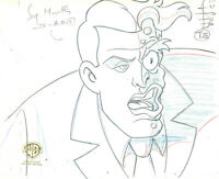 Batman The Animated Series Original Production Drawing-Two Face