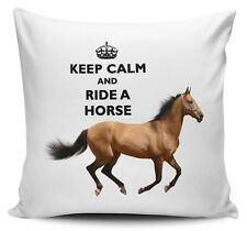 Keep Calm And Ride A Horse Cushion Cover - 40cm x 40cm - Brand New