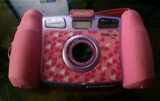 VTech Kidizoom PLUS Kids Camera & VIDEO Camcorder Pink W/Case,USB,TV Hookup,Book
