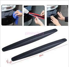 2x 40cm Carbon Fiber Front&Rear Bumper Protector Corner Guard Scratch Sticker