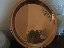 """Vintage Paul Revere Large 12 1/2"""" Round Copper Tray #85 --1801 Signature Tray"""