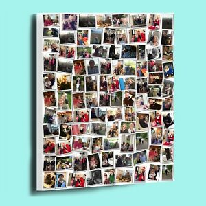 AMAZING PERSONALISED RANDOM PHOTO COLLAGE MONTAGE BOX FRAMED CANVAS PRINT
