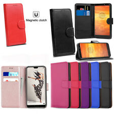 For Huawei Y7 2018 Phone Case Luxury Leather Magnetic Flip Wallet Stand Cover