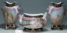 Large Limoges GIBUS & REDON Porcelain Garniture de Cheminée 1872-1881